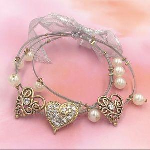 🌼3/$30🌼 Heart Love Illusion Wire Charm Bracelets